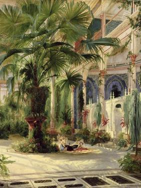 Interior of the Palm House at Potsdam, 1833 by Karl Blechen