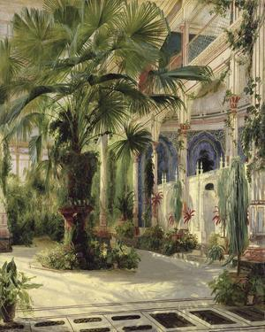 Interior of the Palm House at Potsdam I by Karl Blechen