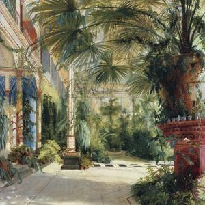 Interior of the Palm House at Potsdam II by Karl Blechen