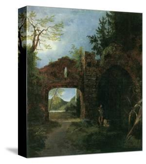 Landscape with Ruins by Karl Blechen