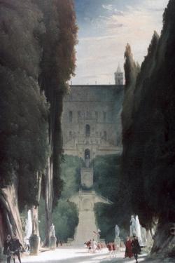 The Garden of the Villa D'Este, 1830 by Karl Blechen