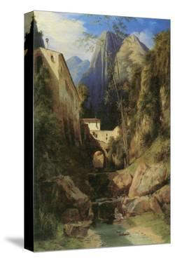 Valley near Amalfi by Karl Blechen