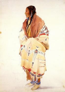 Chan-Cha-Uia-Teuin, Teton Woman by Karl Bodmer