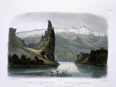 Citadel Rock on the Upper Missouri, Plate 18, Travels in the Interior of North America by Karl Bodmer