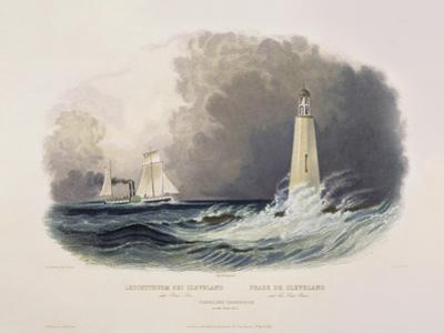 Cleveland Lighthouse on the Lake Erie by Karl Bodmer