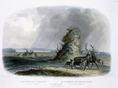 Elkhorn Pyramid, Upper Missouri, Travels in the Interior of North America, c.1843 by Karl Bodmer