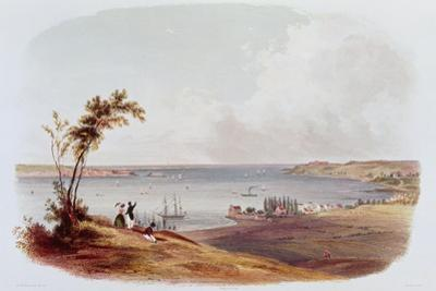 Entry to the Bay of New York, Staten Island, Engraved by Salathe by Karl Bodmer