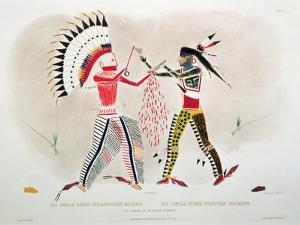 Facsimile of an Indian Painting, Plate 22 from Volume 2 of 'Travels in the Interior of North… by Karl Bodmer