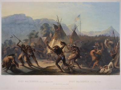 Fort Mckenzie, 28th August 1833, Engraved by Manceau and Hurliman, Published in 1842 by Karl Bodmer