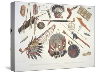 Indian Utensils and Arms, Engraved by Du Casse, Published in 1841 by Karl Bodmer