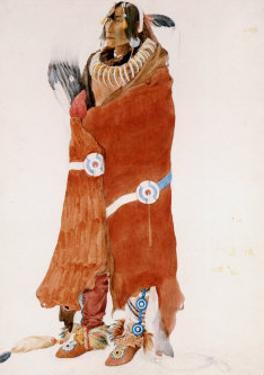 Mahchsi-Karehde, Mandan Man by Karl Bodmer