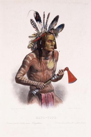 Mato-Tope, Adorned with the Insignia of His Warlike Deeds, 1844 by Karl Bodmer