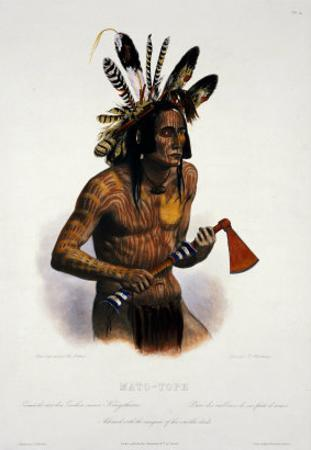 Mato-Tope, Adorned with the Insignia of His Warlike Deeds by Karl Bodmer