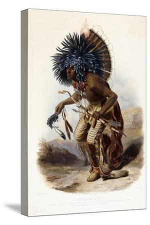 Pehriska-Rupha: Moennitarri Warrior in the Costume of the Dog Danse, 1839-1841 by Karl Bodmer