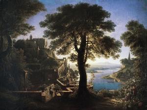 Castle by River, 1820 by Karl Friedrich Schinkel