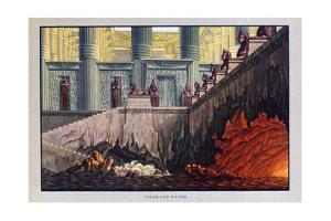 Fire and Water, the Magic Flute, 1816 by Karl Friedrich Schinkel