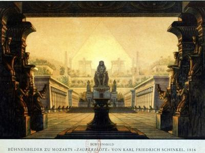 The Courtyard of the Temple of Isis and Osiris Where Sarastro Was High Priest, C1816 by Karl Friedrich Schinkel