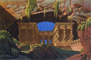 The Temple of Isis and Osiris Where Sarastro Was High Priest, C1816 by Karl Friedrich Schinkel