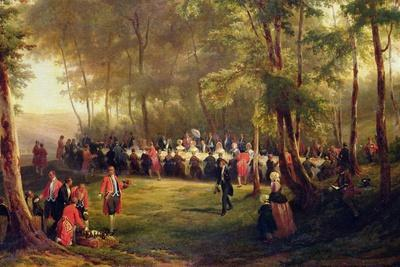 Lunch Given by Louis-Philippe for Queen Victoria in the Forest of Eu, 6th September 1843, 1844…