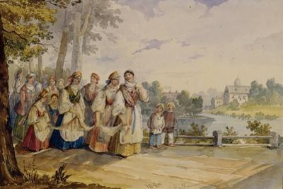 Russian Peasant Girls with Festival Dress, 1845