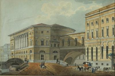 View of the Palace Embankment in St. Petersburg, First Quarter of 19th C