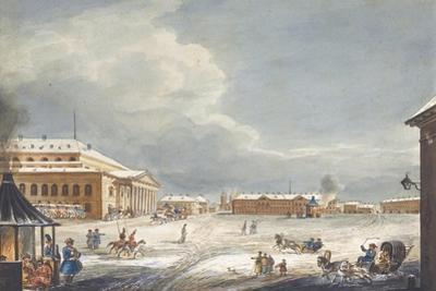 View of the Saint Petersburg Imperial Bolshoi Kamenny Theatre