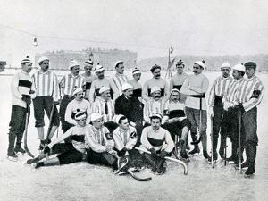 Ice-Hockey Team in St Petersburg, 1900s by Karl Karlovich Bulla
