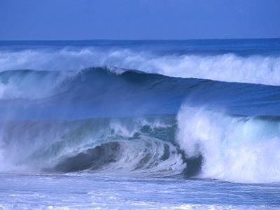 Big Surf at Papohaku Beach, Molokai, Hawaii, USA by Karl Lehmann
