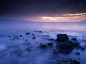 Sunset Over the Pacific Ocean from Near Mala Wharf, Lahaina, Maui, Hawaii, USA by Karl Lehmann