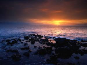 Sunset over the Pacific Ocean from Near Mala Wharf, Lahaina, Maui by Karl Lehmann