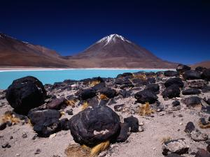 Volcan Licancabor Rising Beyond Lake Verde, Kept Unfrozen at High Altitude by Alkali Salts by Karl Lehmann