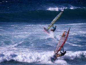 Windsurfing the Tradewinds, Hookipa, Maui, Hawaii, USA by Karl Lehmann