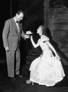 """Karl Malden and Jessica Tandy in the Broadway Production Play """"Streetcar Named Desire"""""""