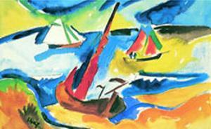 Fischerboote by Karl Schmidt-Rottluff