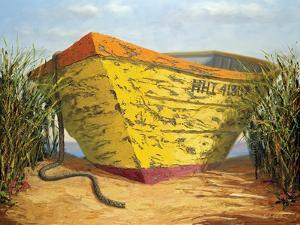 Yellow and Orange Rowboat by Karl Soderlund