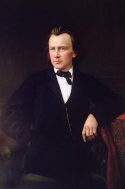 J. Brahms, circa 1860 by Karl Von Jagemann