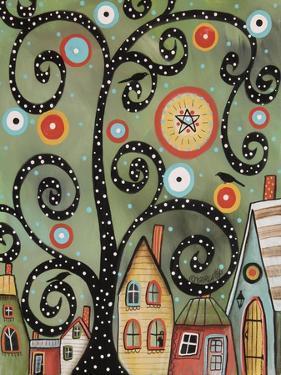 Dotted Swirl Tree 1 by Karla Gerard