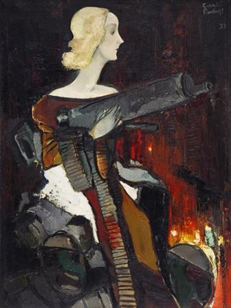 Madonna with a Machine Gun, 1932 by Karlis Padegs