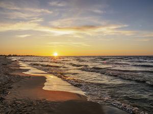 Baltic Sea at sunset, Mikoszewo, Pomeranian Voivodeship, Poland by Karol Kozlowski