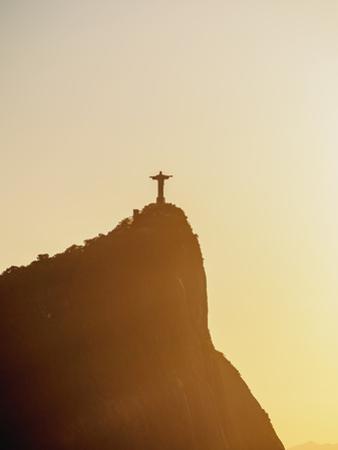 Christ the Redeemer and Corcovado Mountain at sunrise, Rio de Janeiro, Brazil, South America by Karol Kozlowski