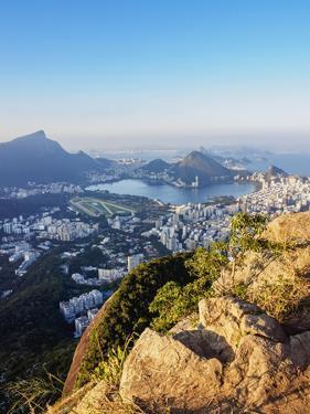 Cityscape seen from the Dois Irmaos Mountain, Rio de Janeiro, Brazil, South America by Karol Kozlowski