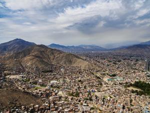 Cityscape seen from the San Cristobal Hill, Lima, Peru, South America by Karol Kozlowski