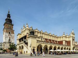 Cloth Hall and Town Hall Tower, Market Square, Cracow (Krakow), Lesser Poland Voivodeship, Poland by Karol Kozlowski