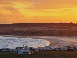 Elevated view of the Cabo Polonio at sunset, Rocha Department, Uruguay, South America by Karol Kozlowski