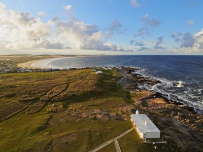 Elevated view of the Cabo Polonio, Rocha Department, Uruguay, South America by Karol Kozlowski
