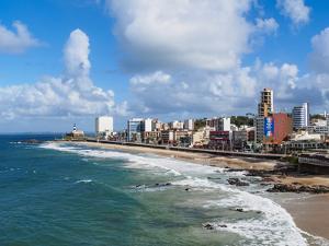 Farol da Barra Beach, elevated view, Salvador, State of Bahia, Brazil, South America by Karol Kozlowski