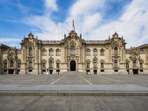 Government Palace, Plaza de Armas, Lima, Peru, South America by Karol Kozlowski