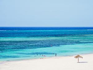 Guardalavaca Beach, elevated view, Holguin Province, Cuba, Central America by Karol Kozlowski