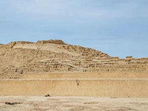 Huaca Pucllana Pyramid, Miraflores District, Lima, Peru, South America by Karol Kozlowski