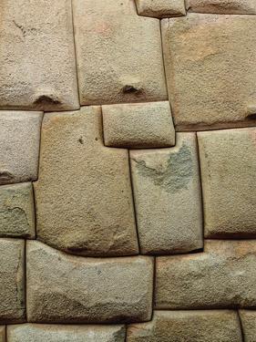 Inca stonework, Hatunrumiyoc Street, UNESCO World Heritage Site, Cusco, Peru, South America by Karol Kozlowski